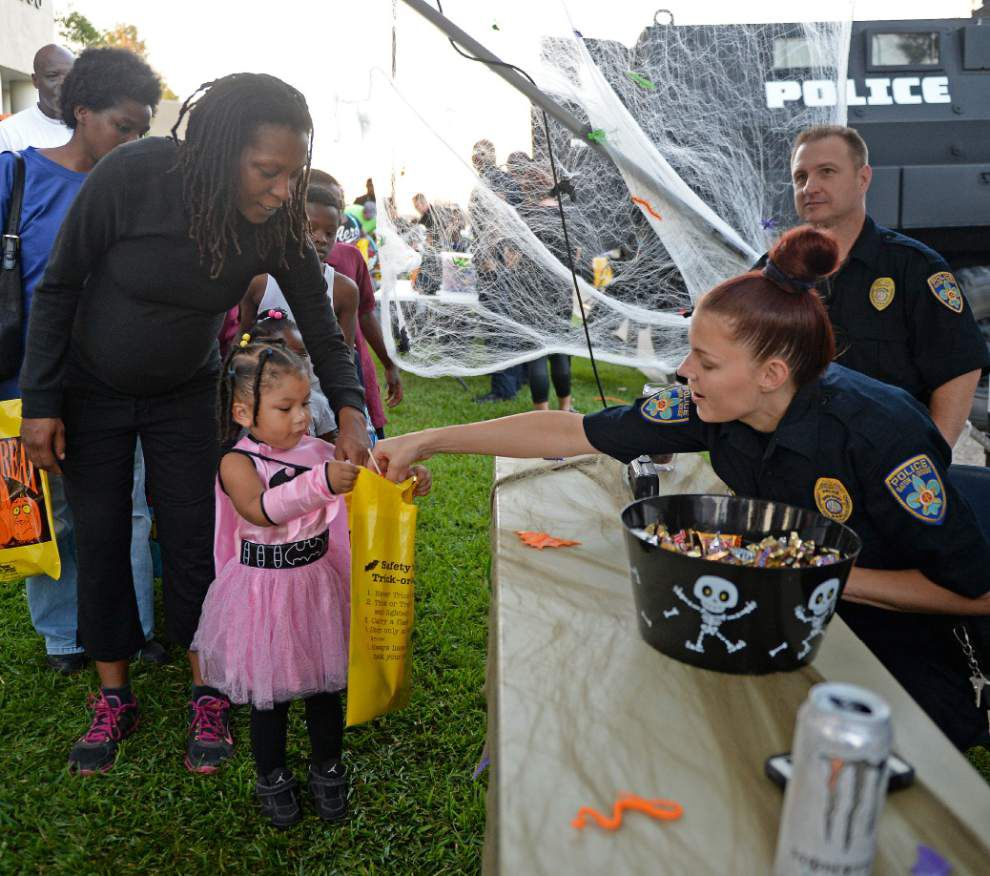 Photos: Police hand out treats, have fun with local kids during Thursday's Boo with Blue _lowres