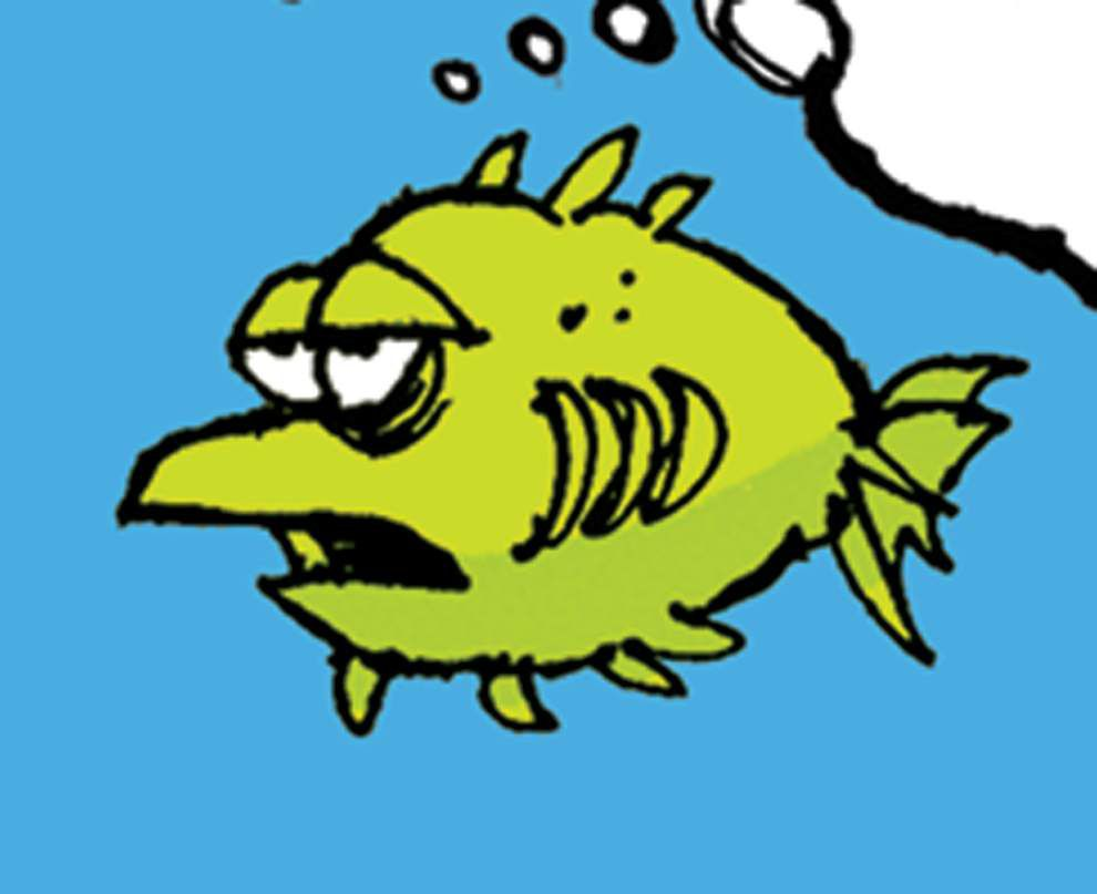 Walt Handelsman: Fishy answer to global warming _lowres