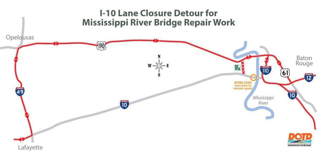 June 1 road work Baton Rouge