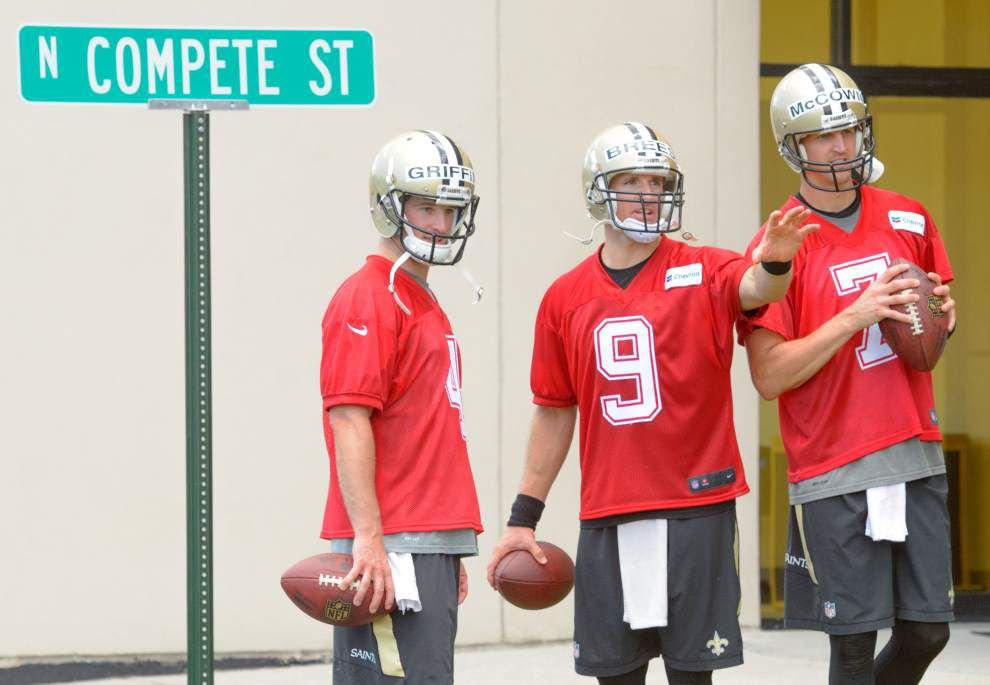 Why Saints coach Sean Payton put a 'Compete Street' sign at practice facility _lowres