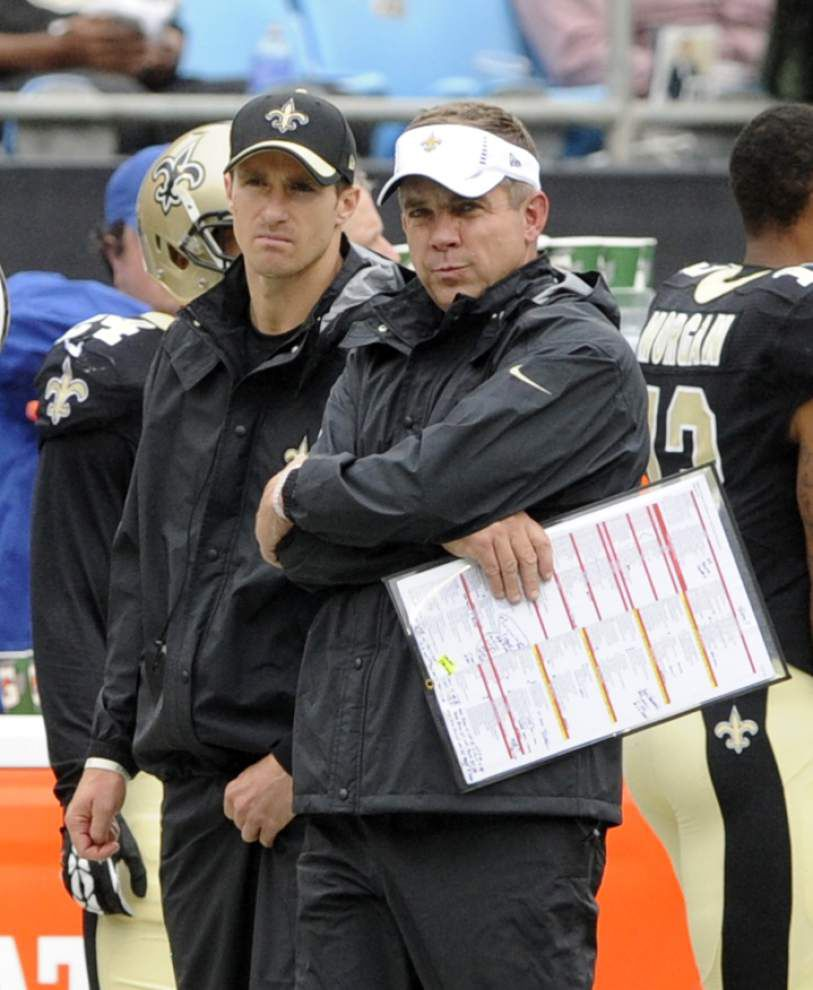 Saints notebook: Drew Brees out of game action but stays active on sideline _lowres