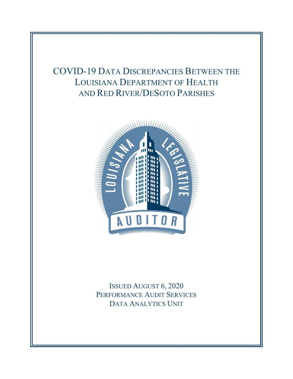 Legislative Audit Report Aug. 6, 2020