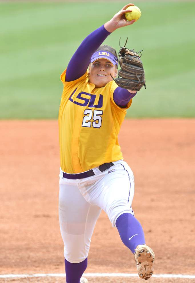 Allie Walljasper has stepped up her game for the LSU softball team heading into the WCWS _lowres