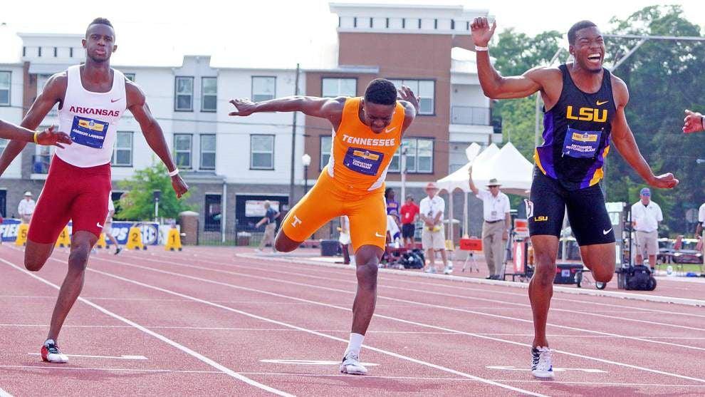 LSU's Nethaneel Mitchell-Blake sweeps short sprints _lowres