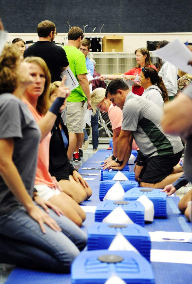 Lafayette coaches, physical education teachers get training in CPR, other life-saving techniques _lowres