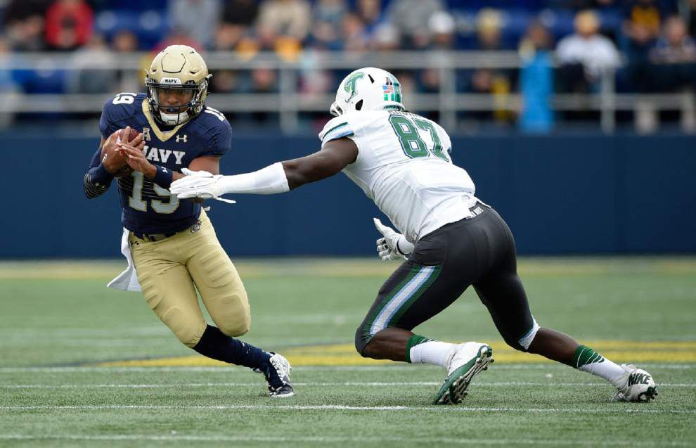 Navy 31, Tulane 14: Guerry Smith's three and out _lowres