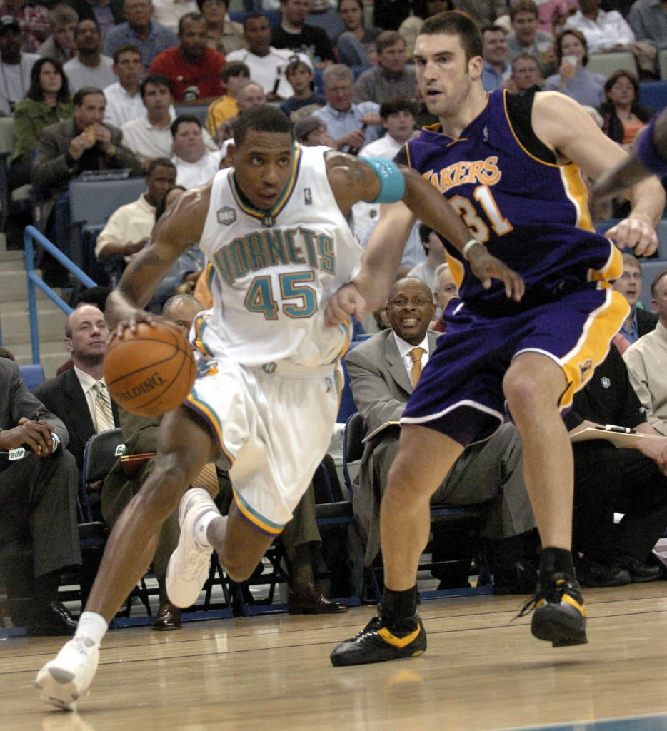 Advocate File Photo    Rasual Butler (left) And Lakers Player Chris Mihm In  The New Orleans Hornetsu0027 First Game Back In New Orleans Following Hurricane  ...
