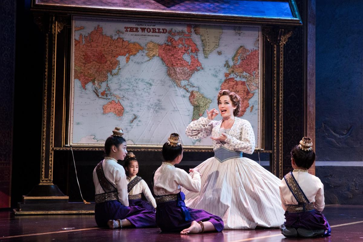 Laura Michelle Kelly as Anna and the Royal Children of Rodgers & Hammerstein's The King and I. Photo by Matthew Murphy.jpg