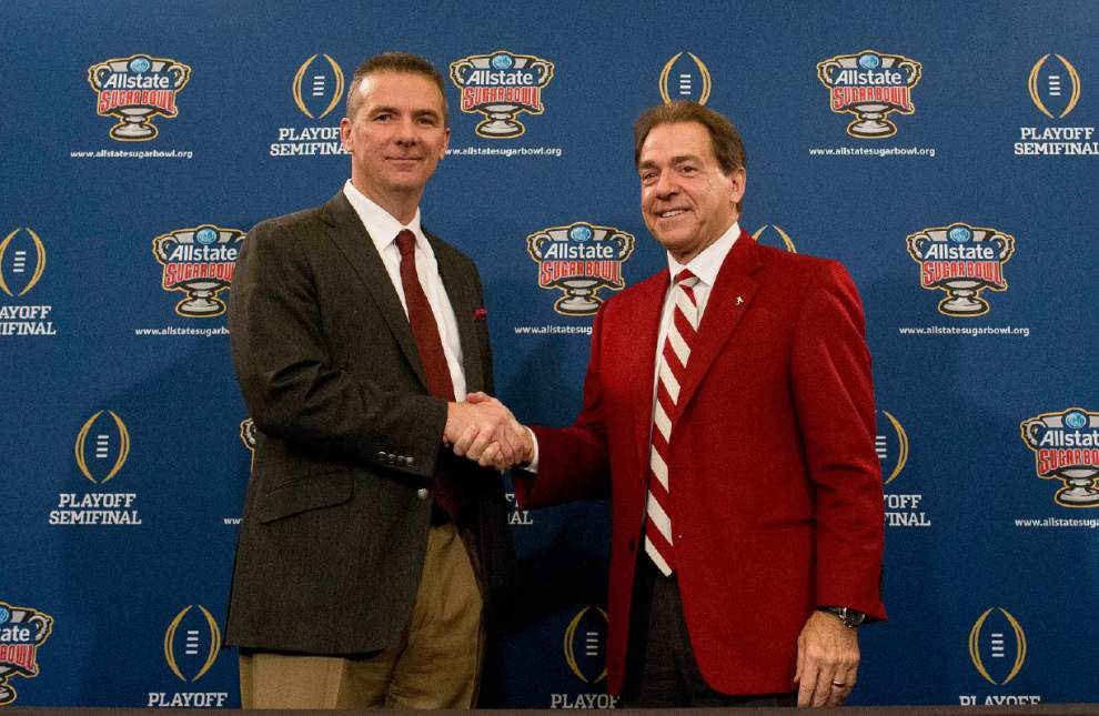 Ted Lewis: Ohio State's Urban Meyer, Alabama's Nick Saban part of exclusive, elite club of college coaches _lowres