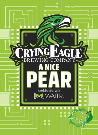 The Logo For A Nice Pear New Beer From Crying Eagle Brewing Branded In Partnership With Restaurant Delivery Waitr
