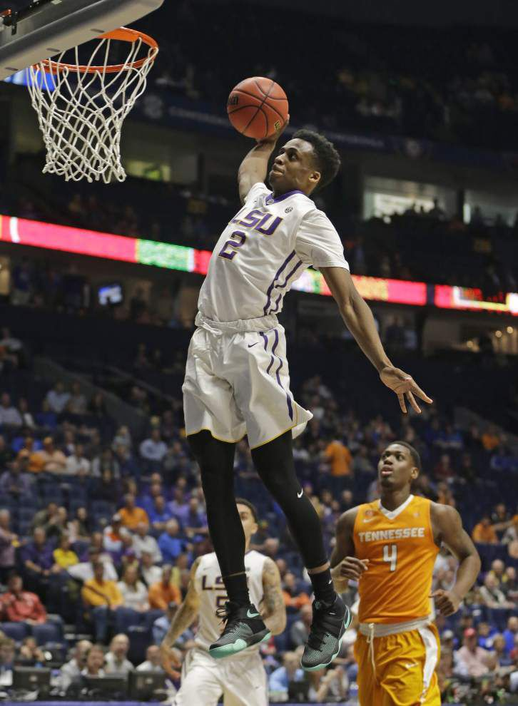 Second-half surge lifts LSU past Tennessee 84-75, into matchup with No. 1 seed Texas A&M at SEC tournament _lowres