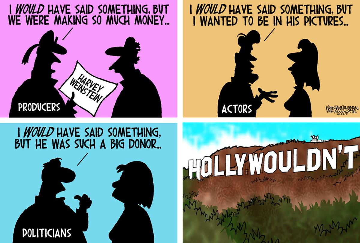 Walt Handelsman: Harvey Weinstein
