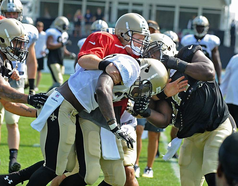 Skirmishes erupt during the Saints' Thursday practice _lowres