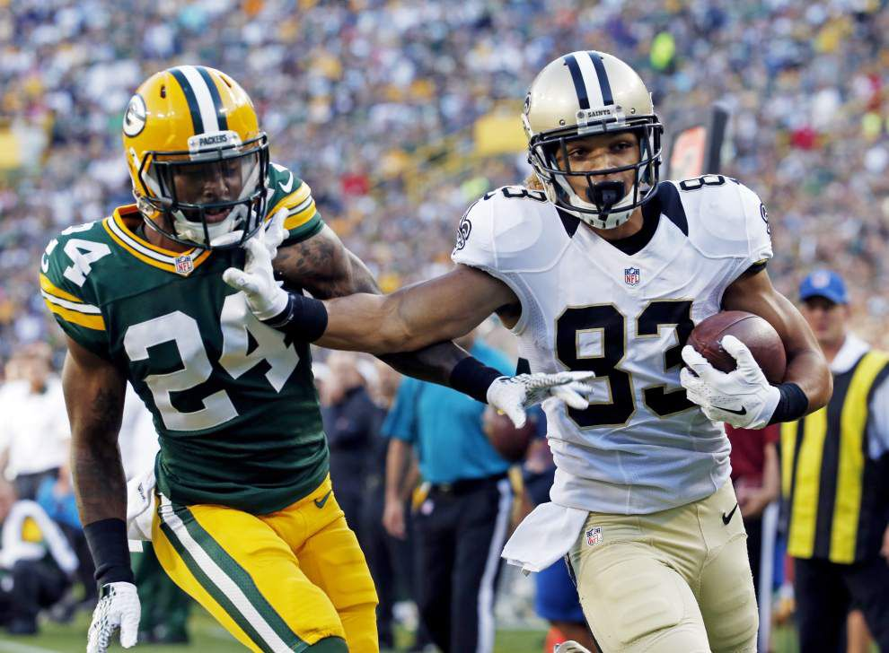 Willie Snead, Brandon Coleman try to cement their spots on Saints' roster with solid night at Green Bay _lowres
