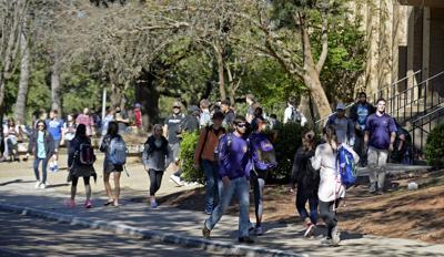LSU students stock