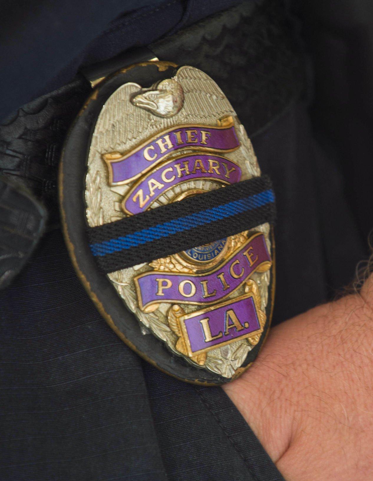 Badge fireman died strip