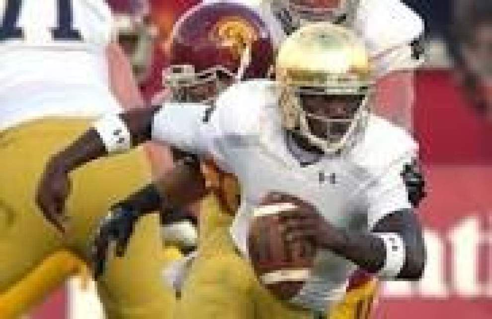 Notre Dame to start sophomore Malik Zaire at quarterback against LSU in the Music City Bowl _lowres