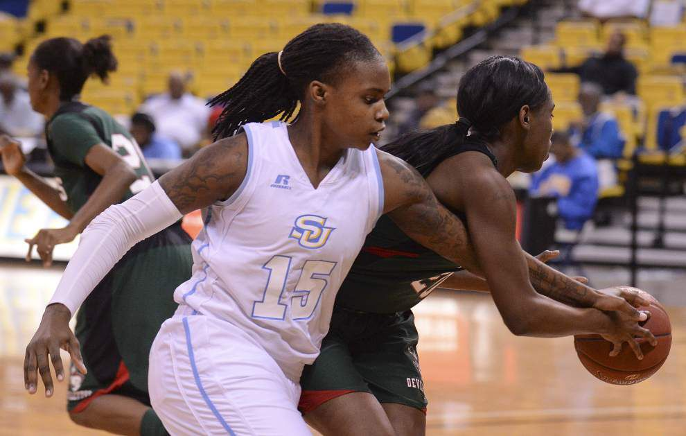 Southern seniors Kendra Coleman and Jasmine Jefferson hope for a special finish _lowres