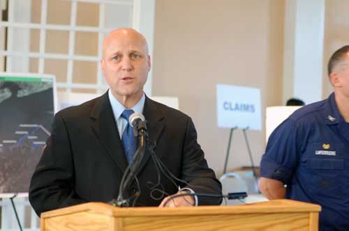 """Landrieu, BP, U.S. Coast Guard Face Angry Crowd At """"Oil Spill Response Open House.""""_lowres"""