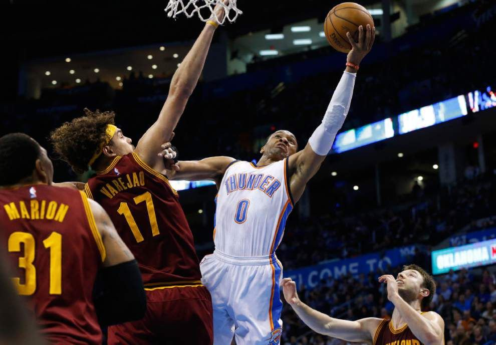 Russell Westbrook leads Thunder past Cavaliers _lowres