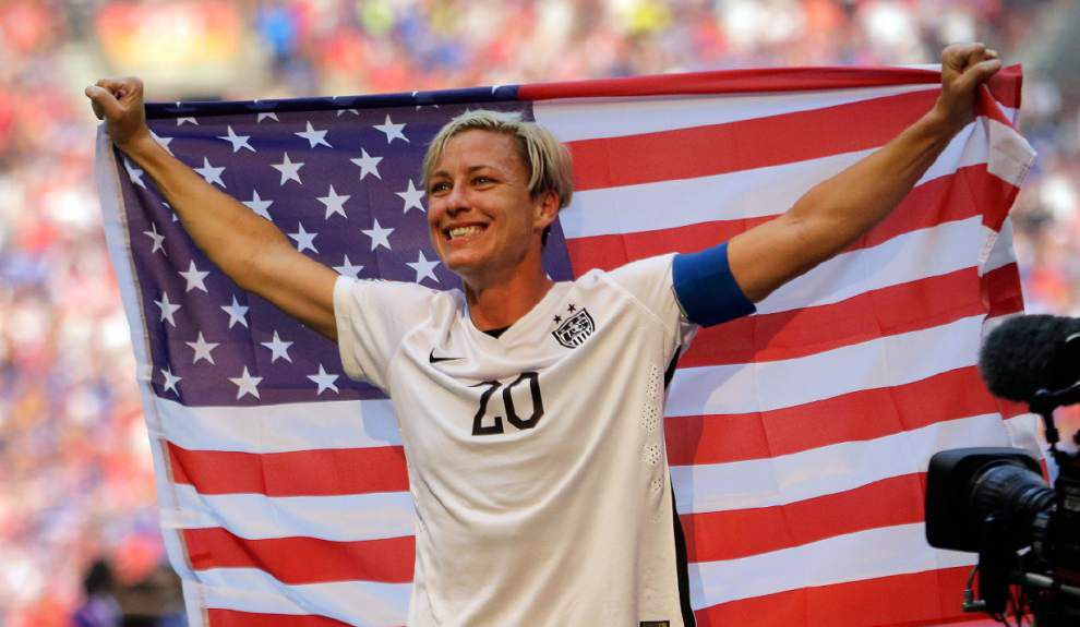 Soccer great Abby Wambach will play her last match in New Orleans in December; ticket sales start Nov. 3 _lowres