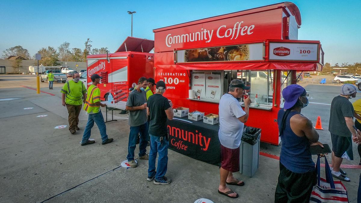 community coffee hurricane laura