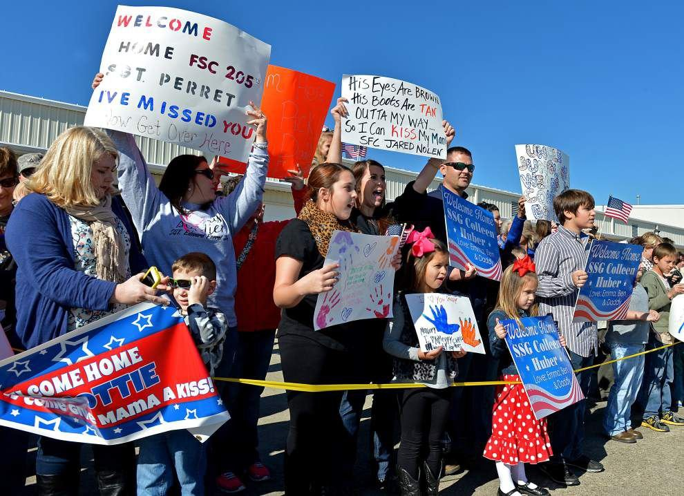 Louisiana soldiers back home after year-long deployments _lowres