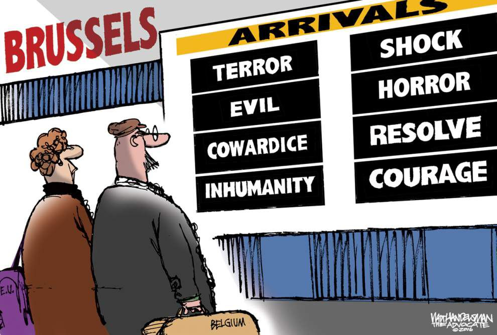 Walt Handelsman: From shock and horror to resolve and courage... _lowres