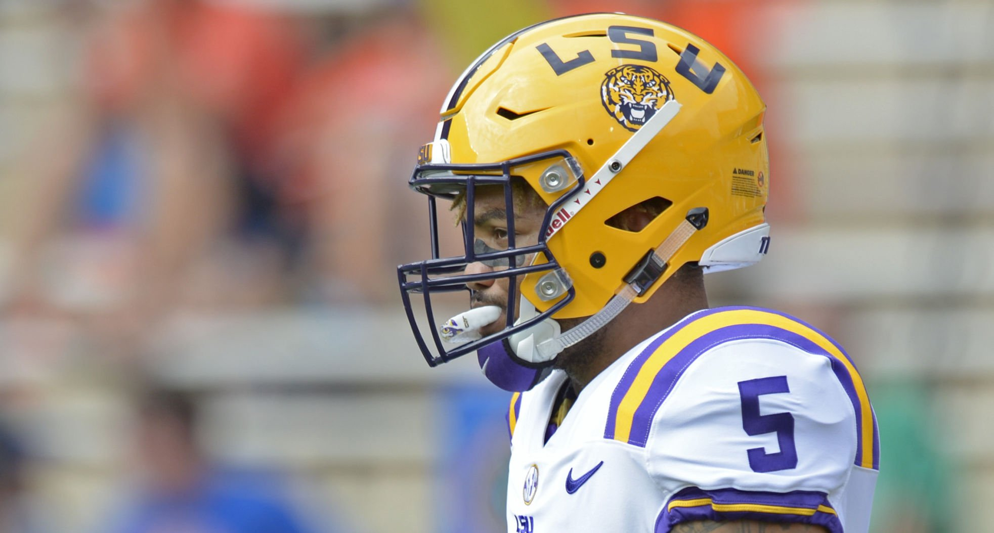 LSU RB Derrius Guice Trolls Florida Coach Jim McElwain on Twitter