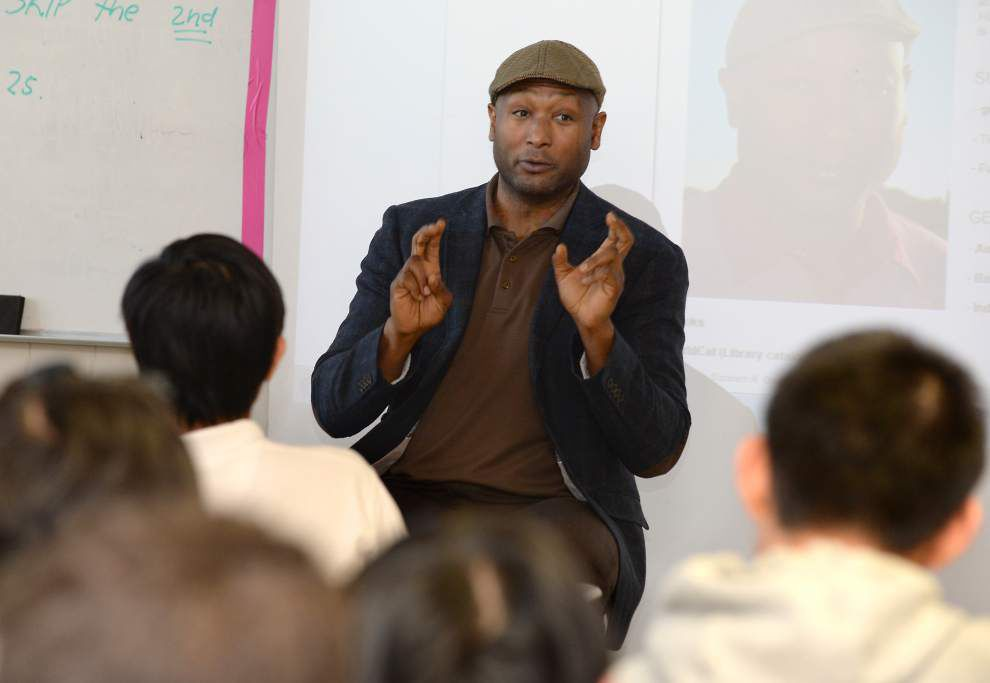 Ernest J. Gaines award-winning author addresses students at McKinley High School _lowres