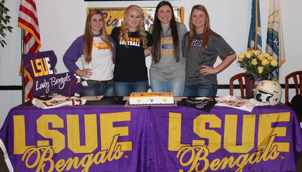 Four Louisiana Blazers Elite players sign with LSU Eunice _lowres
