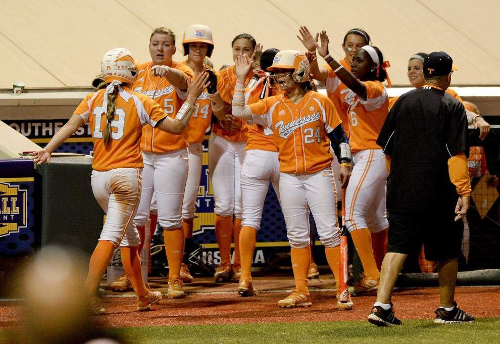 Photos: LSU softball matches up against the Tennessee Lady Vols in SEC tournament action _lowres