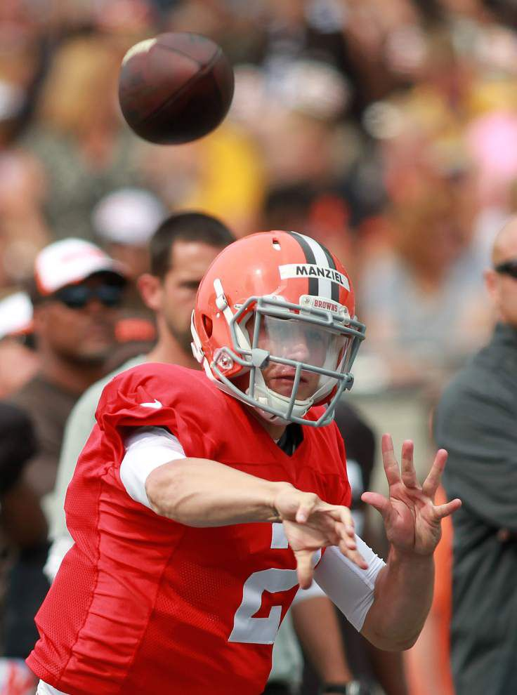 Live game against Lions gives Browns good chance to evaluate Johnny Manziel _lowres