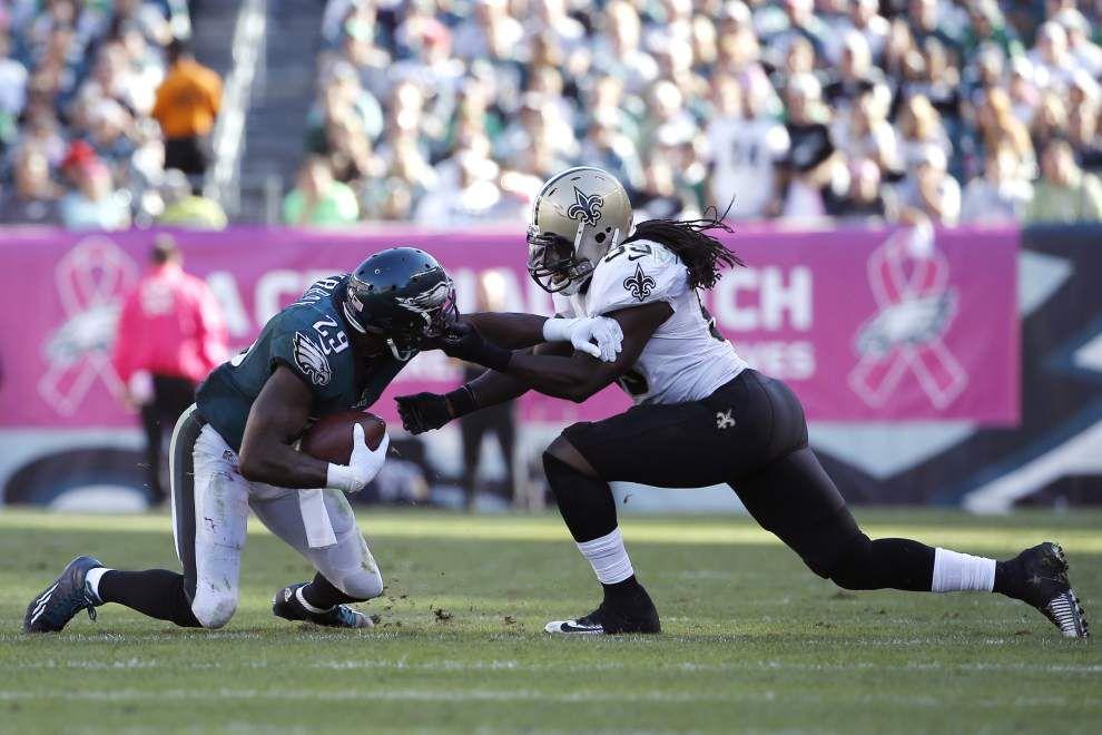 Saints linebacker Dannell Ellerbe playing vs. Giants still TBD _lowres