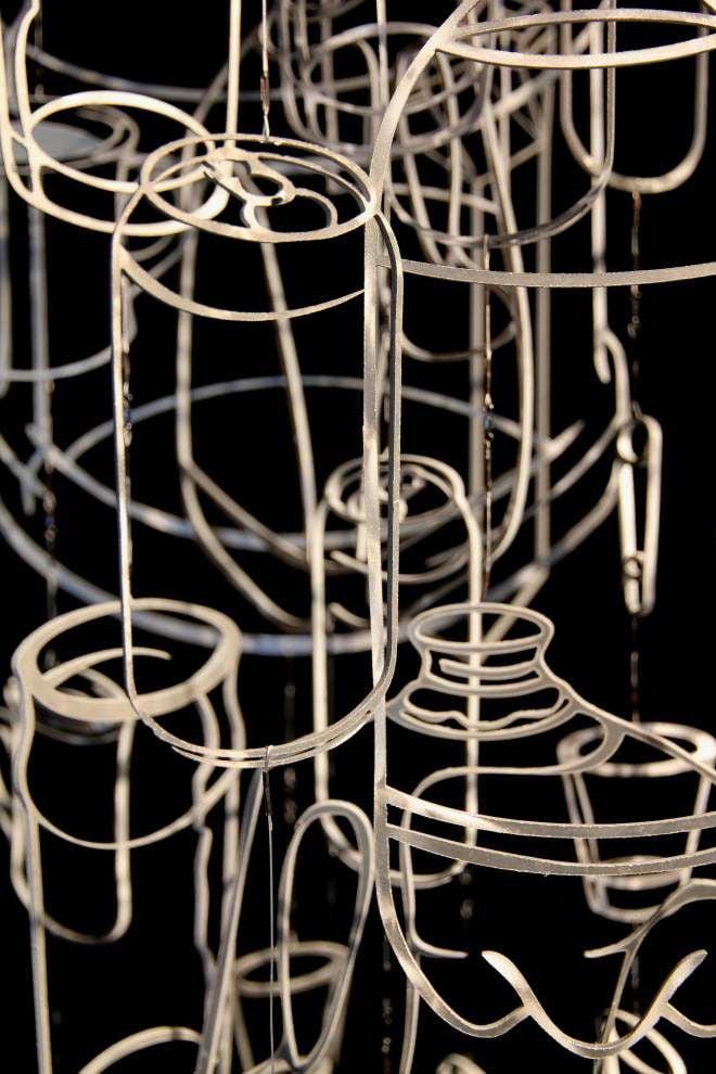 Water bottles inspire artist's work after Katrina _lowres