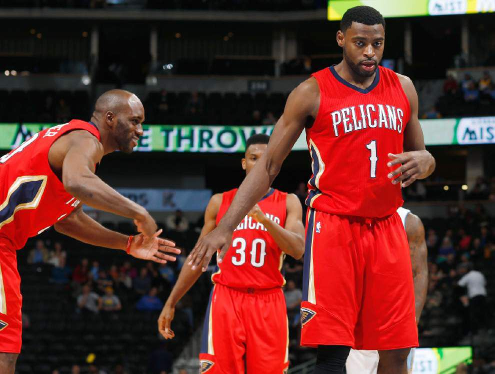 See the New Orleans Pelicans are pumped up for 80's Night on Friday at the Smoothie King Center _lowres