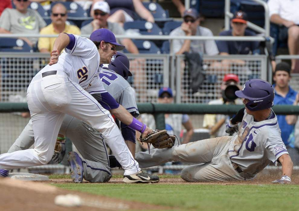 Conner Hale, LSU sweeping away error-filled game _lowres