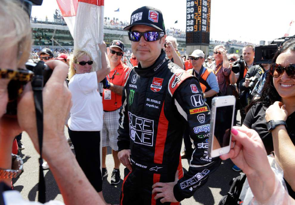 Kurt Busch finishes sixth at Indy 500 before bowing out with blown engine in NASCAR race _lowres