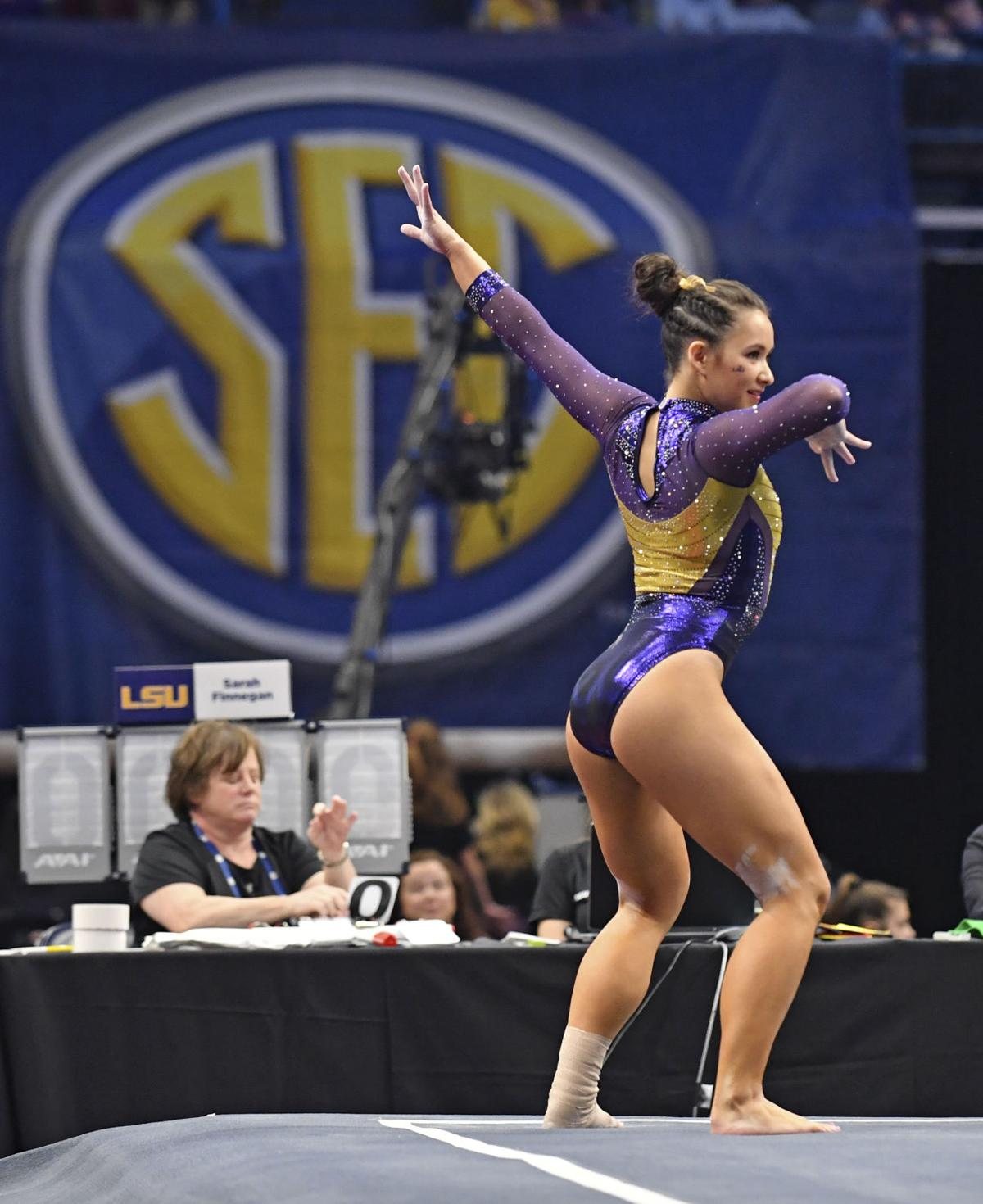 perfect 10 routine that clinched LSU