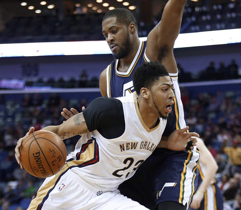 Pelicans cool off Jazz behind balanced scoring effort _lowres