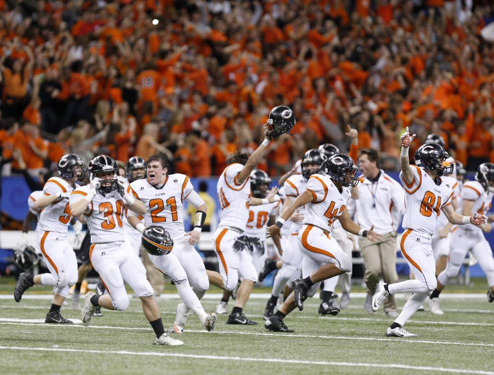 Catholic High gets it done! Bears shock Rummel on last-second field goal to capture Div. I state title _lowres