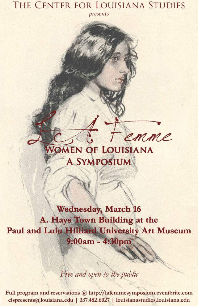 Public invited to Women's History Month symposium at UL-Lafayette _lowres