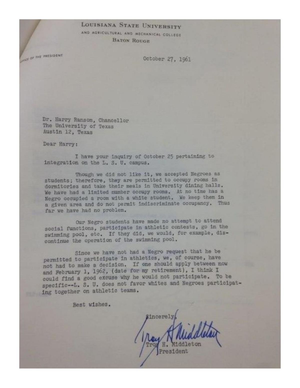 Segregation letter