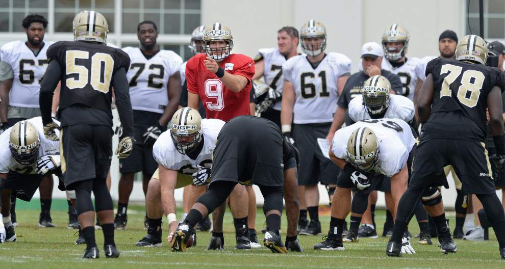 Photos: Mark Ingram breaks tackles, Rob Ryan coaches up defenders, Drew Brees commands offense in Saints training camp practice Thursday _lowres