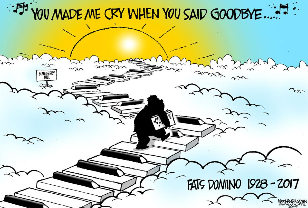 Walt Handelsman: RIP Fats Domino