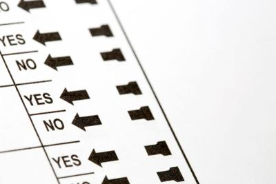 Election Ballot Yes and No Choices