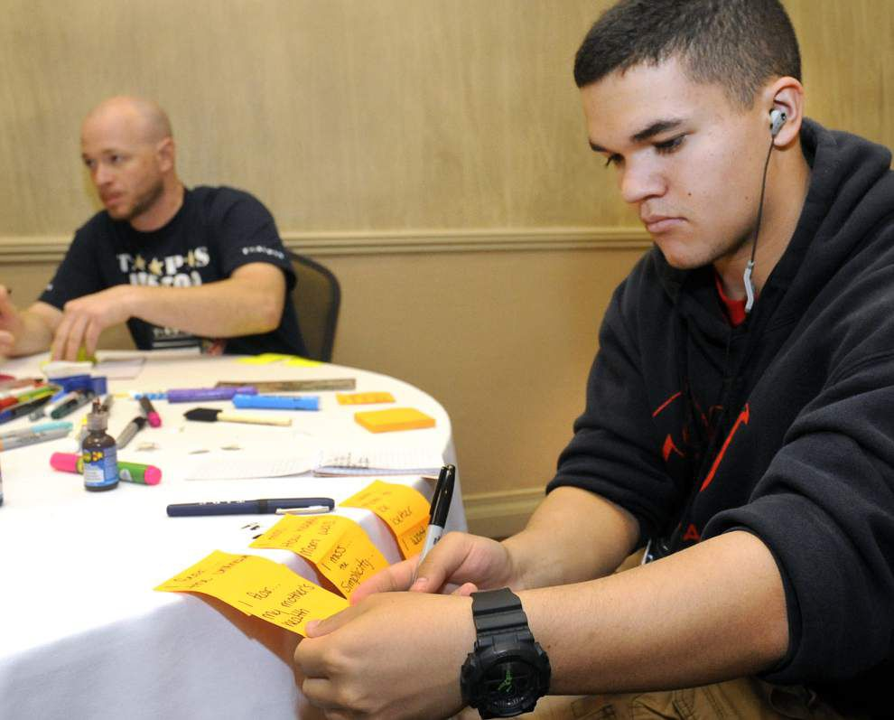 'A safe place': Military families share stories of loss, healing at Baton Rouge program _lowres
