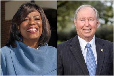 Sharon Weston Broome (left) and Steve Carter (right)