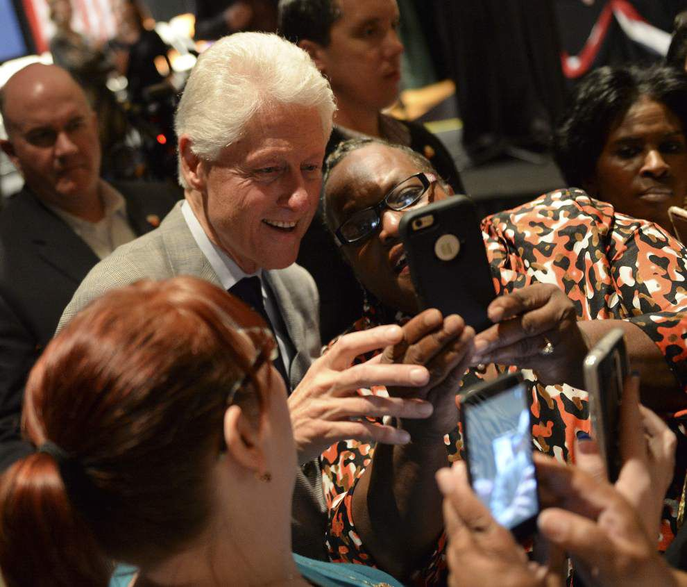Bill Clinton stumps for Hillary Clinton's campaign in Baton Rouge _lowres