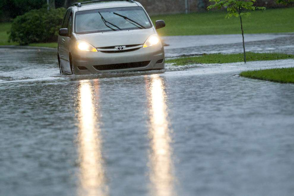 Rain forces some street closures in Lacombe _lowres